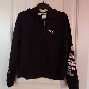 NWT VS Love Pink Bling Zip Up Hoodie